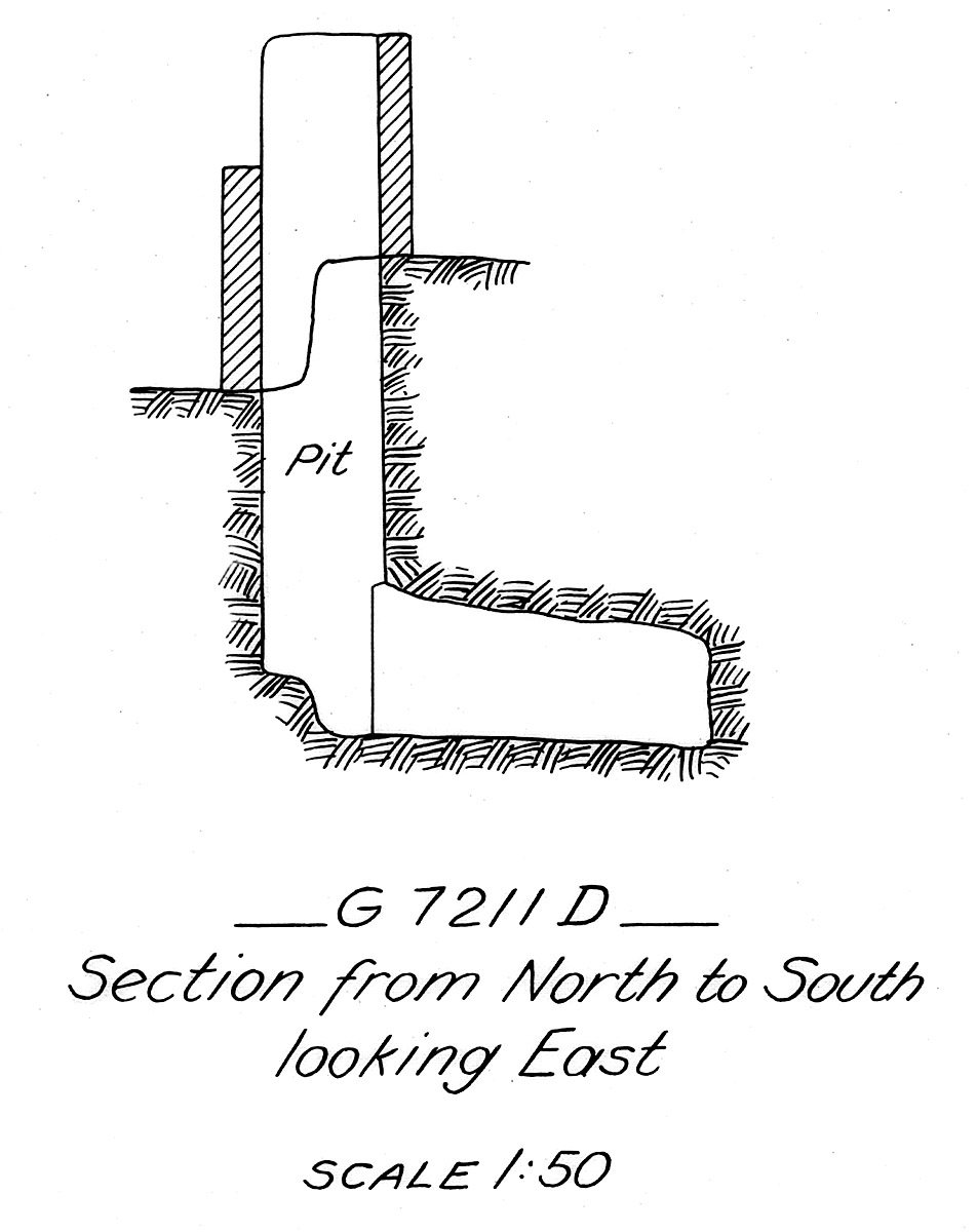 Maps and plans: G 7211, Shaft D