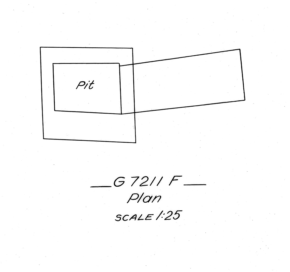 Maps and plans: G 7211, Shaft F