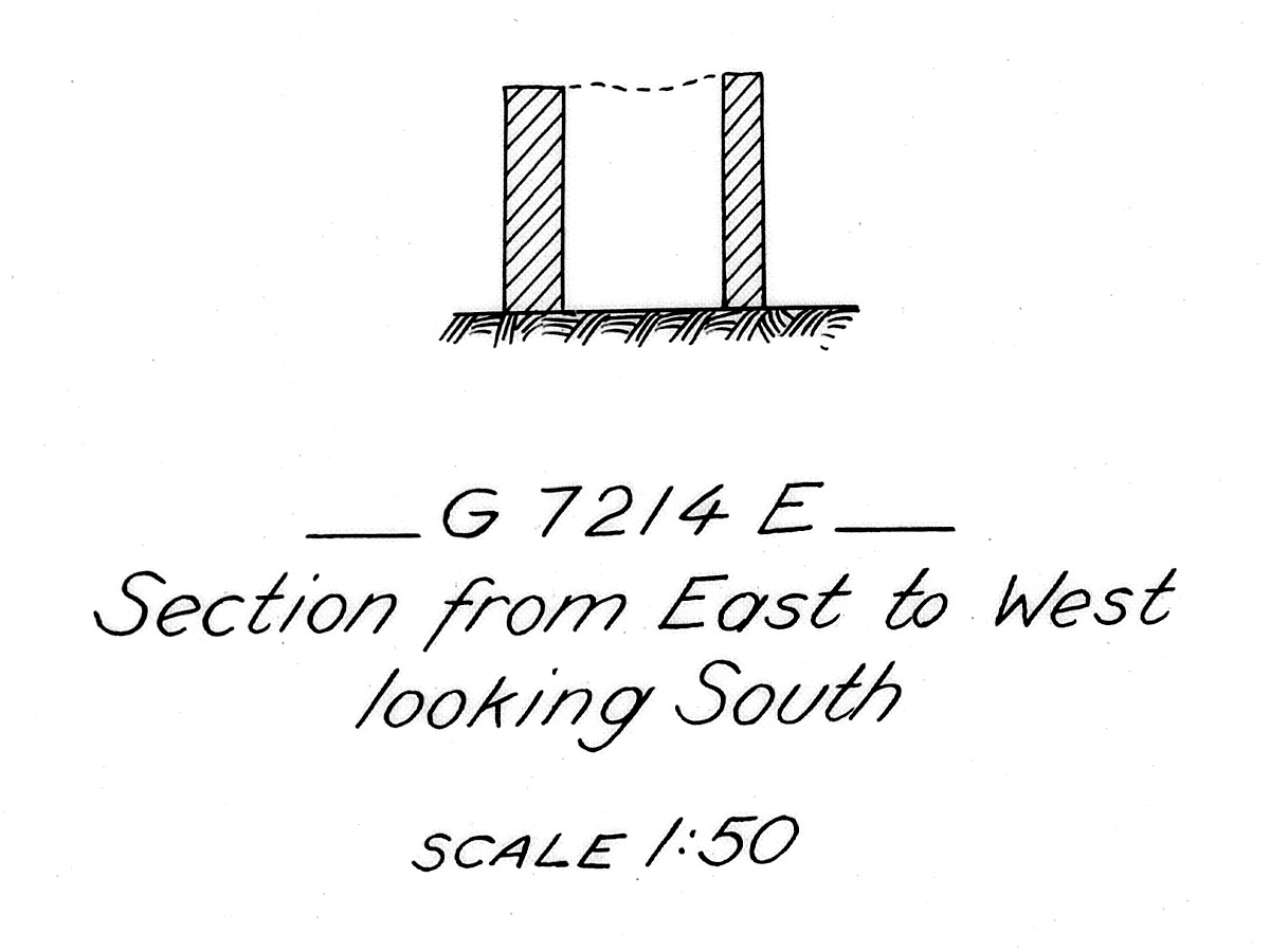 Maps and plans: G 7214, Shaft E