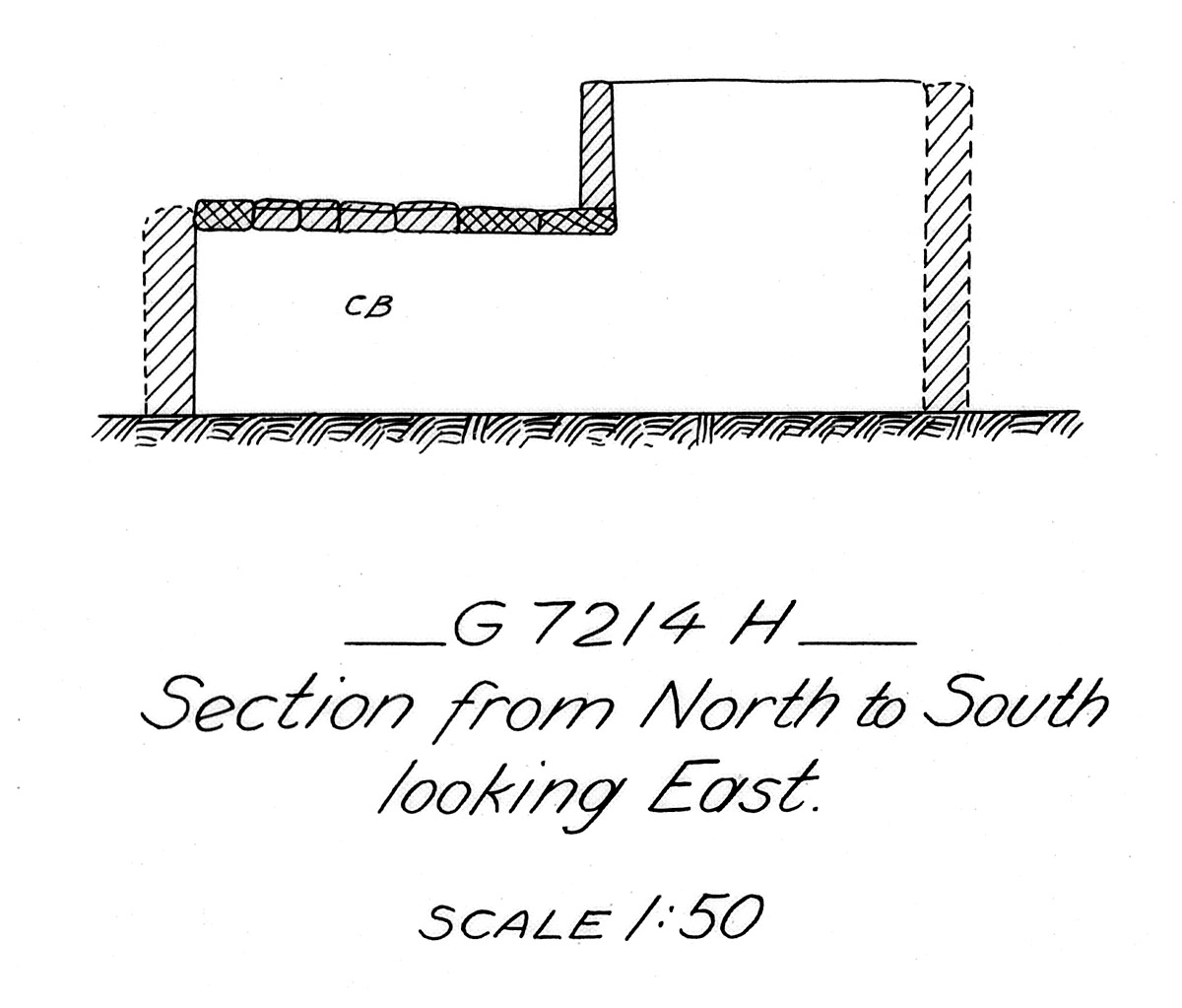 Maps and plans: G 7214, Shaft H