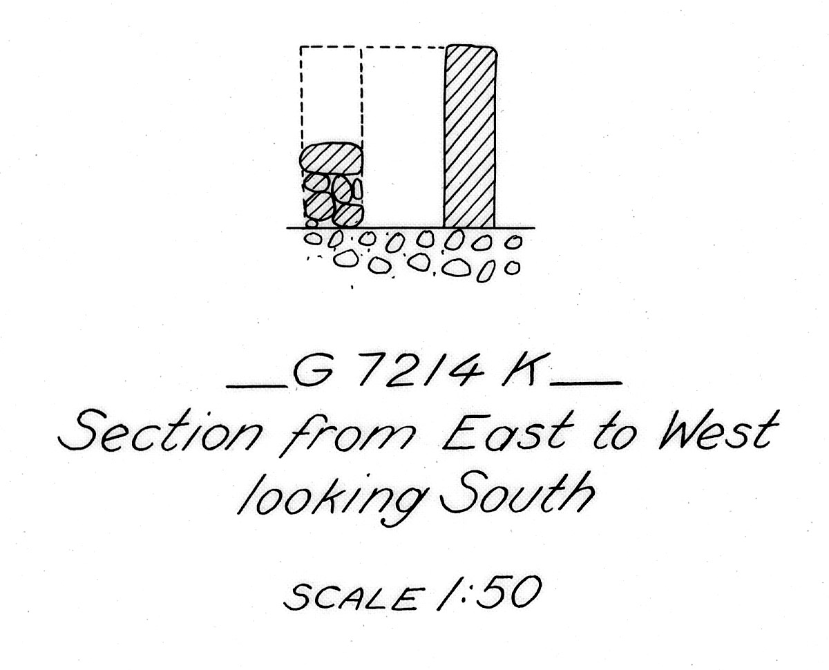 Maps and plans: G 7214, Shaft K