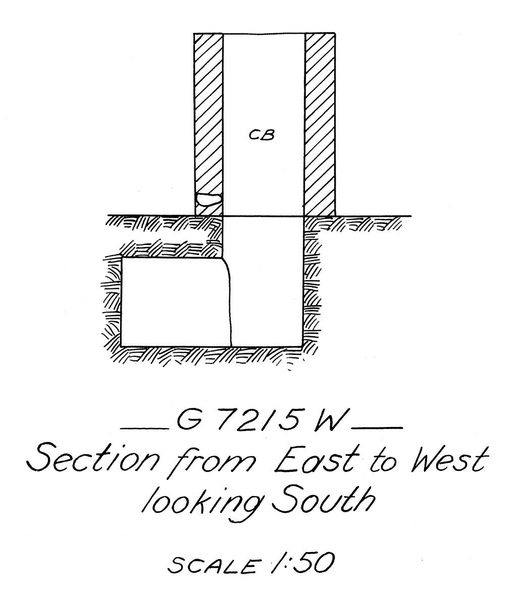 Maps and plans: G 7215, Shaft W