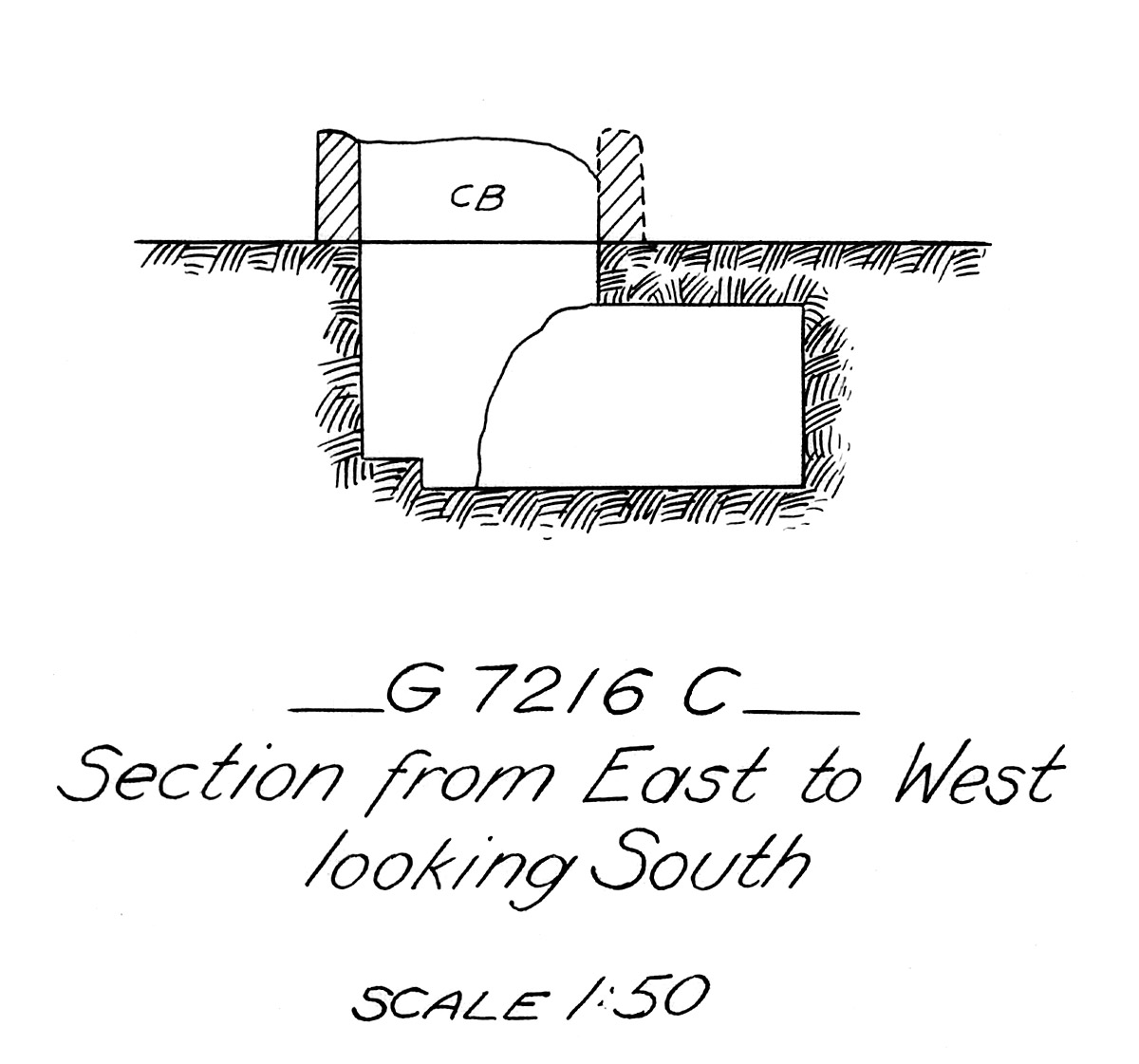 Maps and plans: G 7216, Shaft C