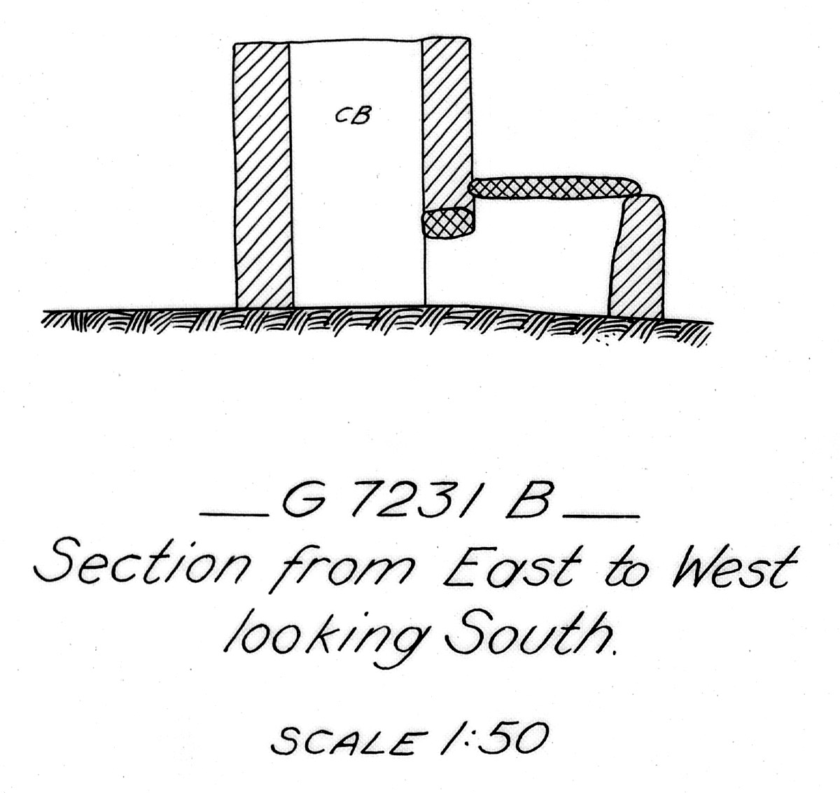 Maps and plans: G 7231, Shaft B
