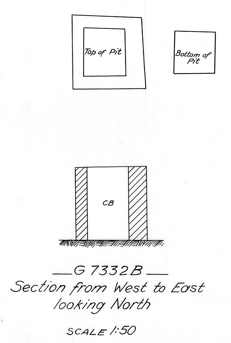 Maps and plans: G 7333, Shaft B