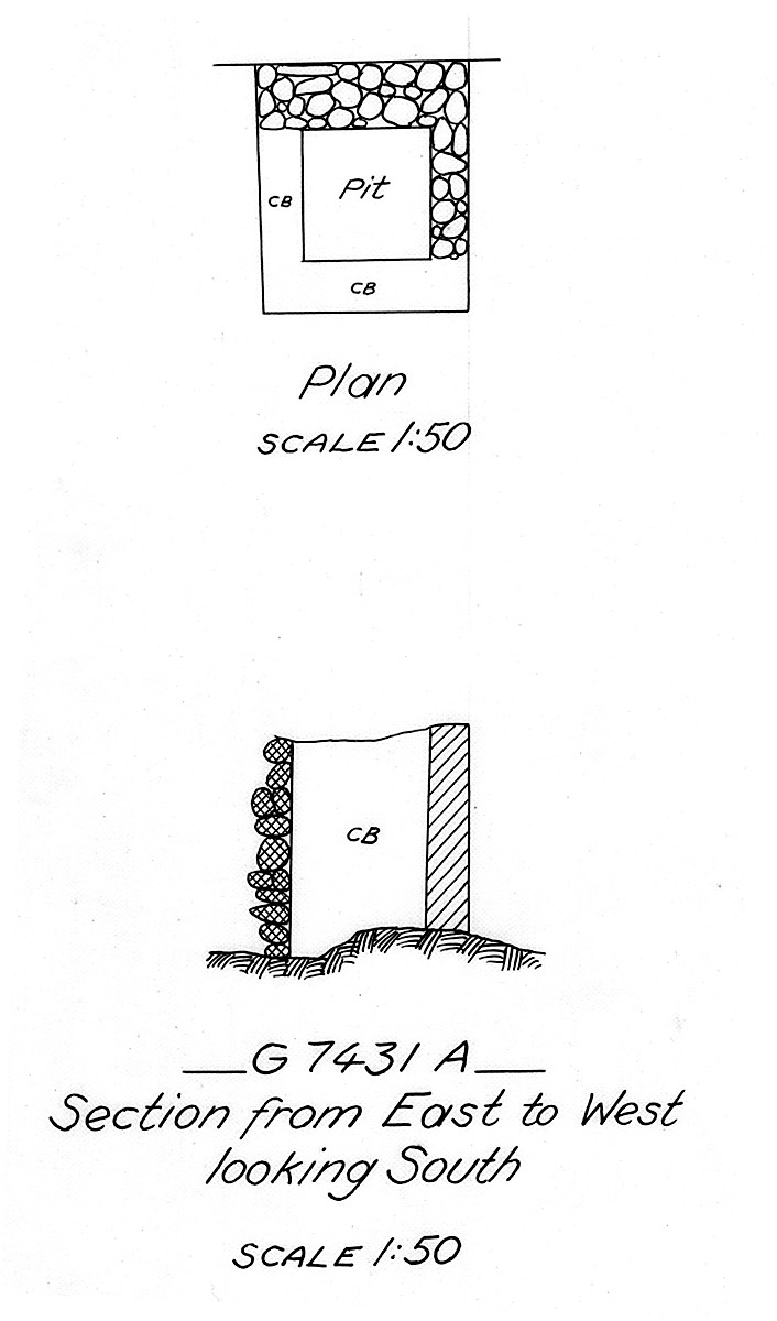 Maps and plans: G 7431, Shaft A