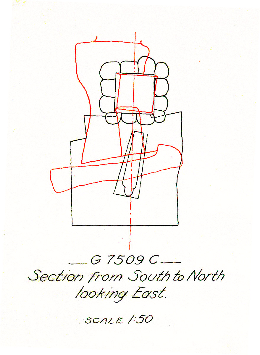 Maps and plans: G 7509, Shaft C