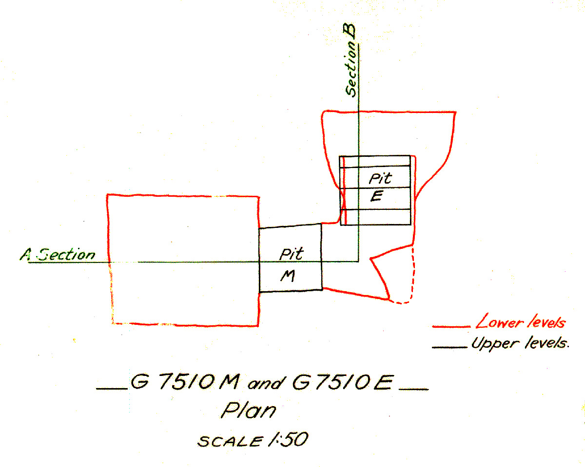 Maps and plans: G 7510, Shaft E and M