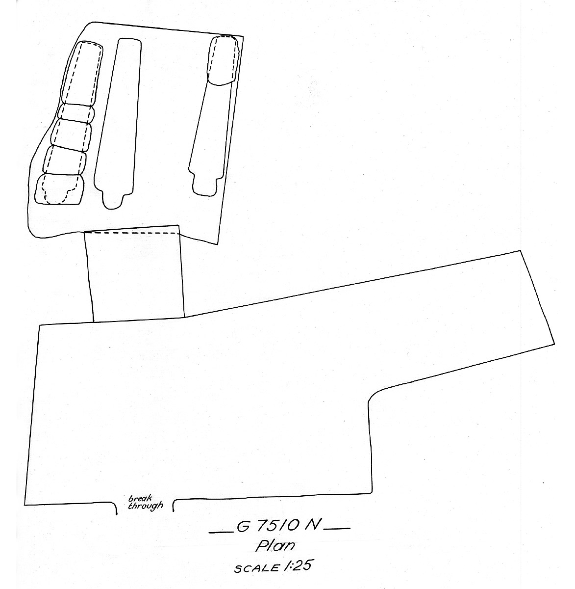Maps and plans: G 7510, Shaft N