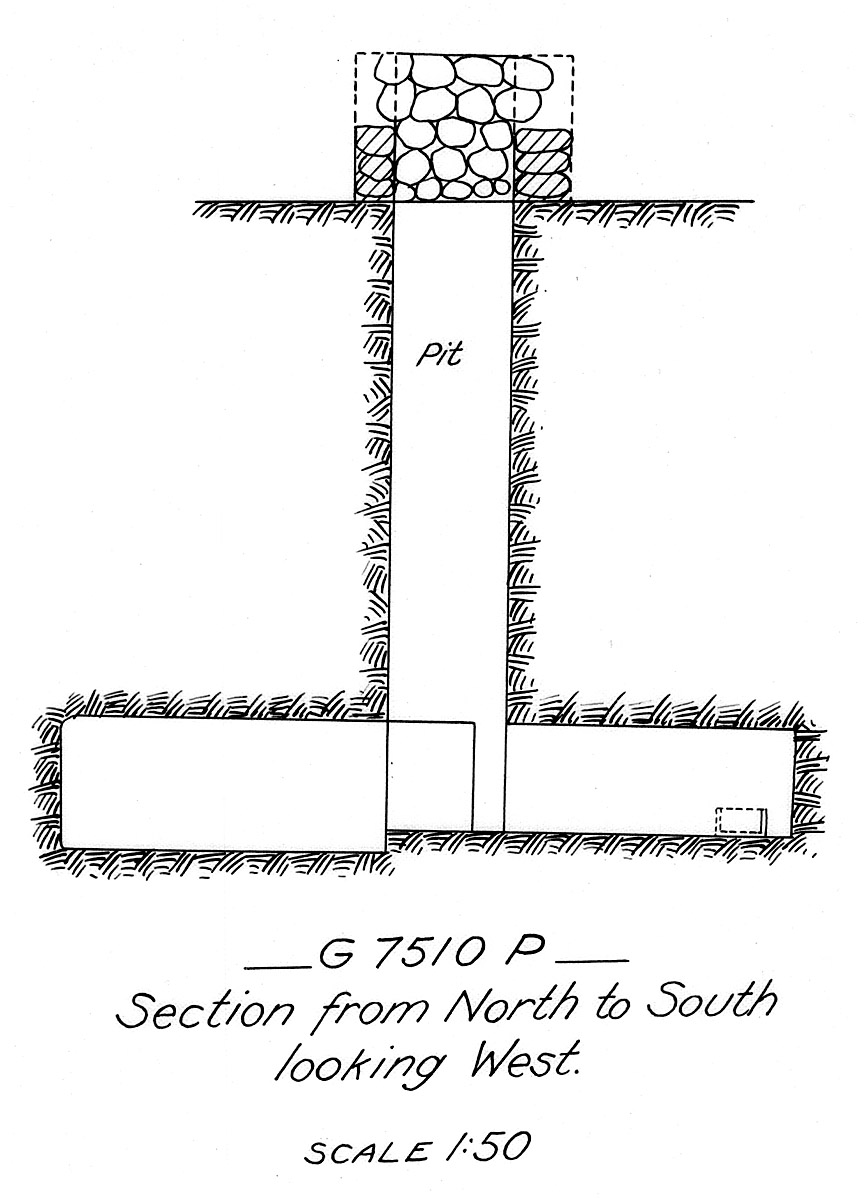 Maps and plans: G 7510, Shaft P