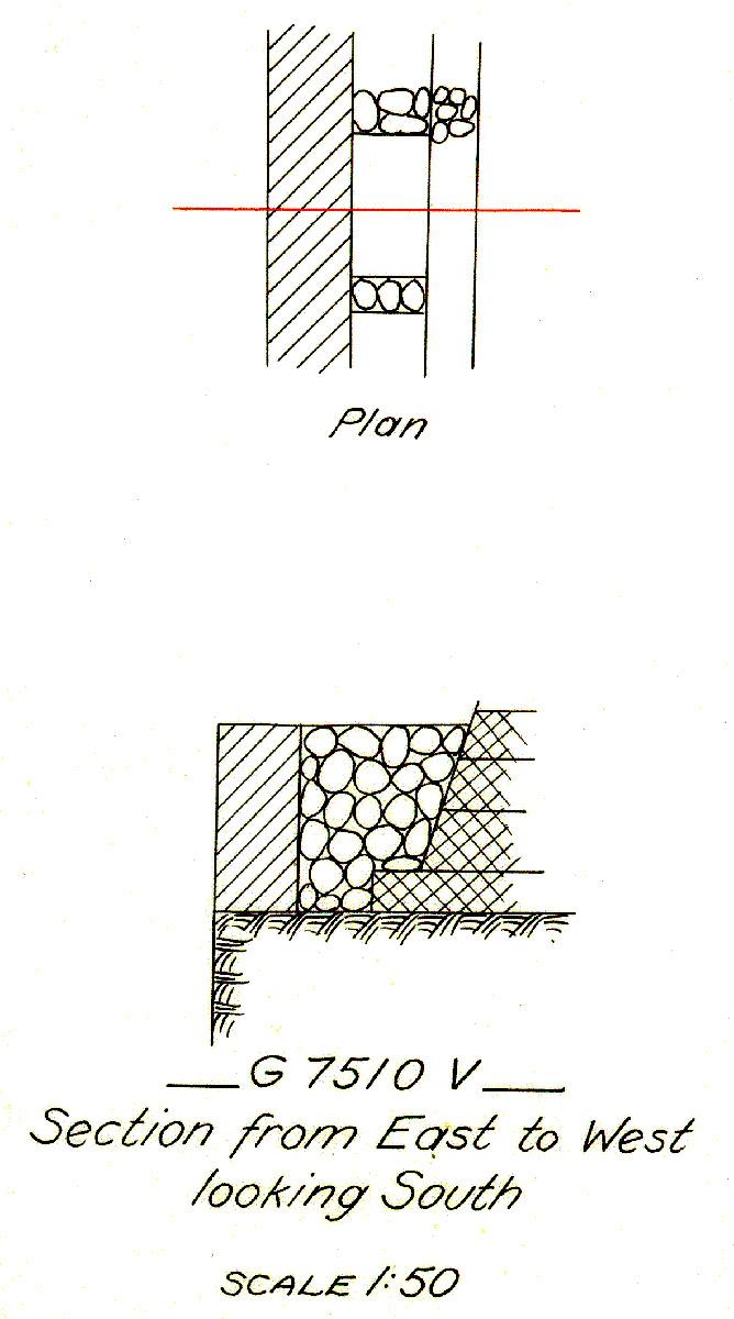 Maps and plans: G 7510, Shaft V