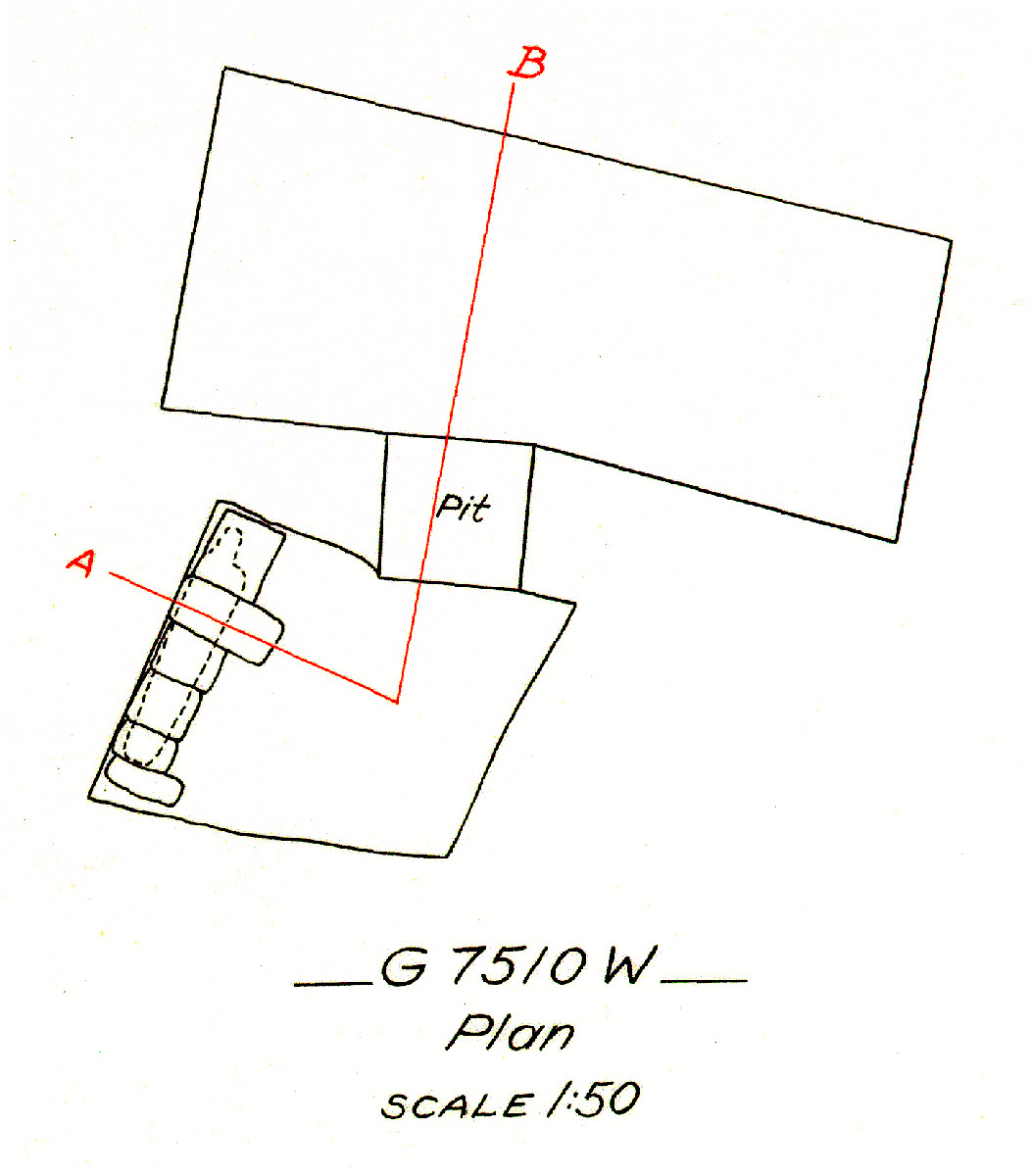Maps and plans: G 7510, Shaft W