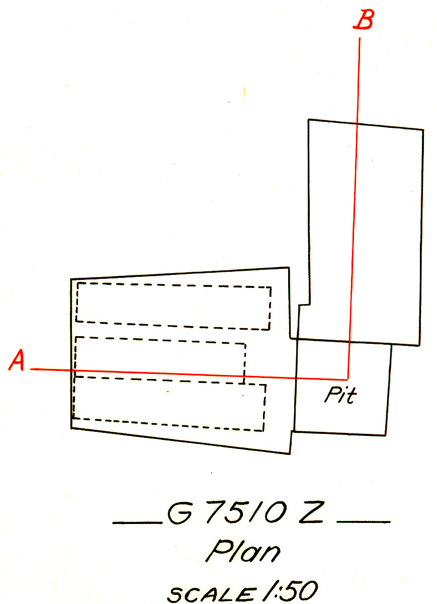 Maps and plans: G 7510, Shaft Z