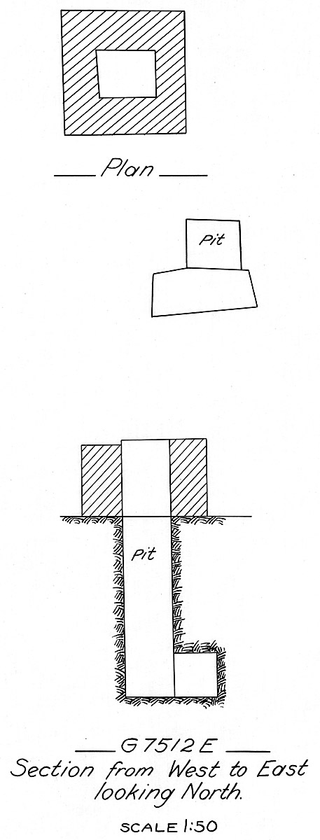 Maps and plans: G 7512, Shaft E