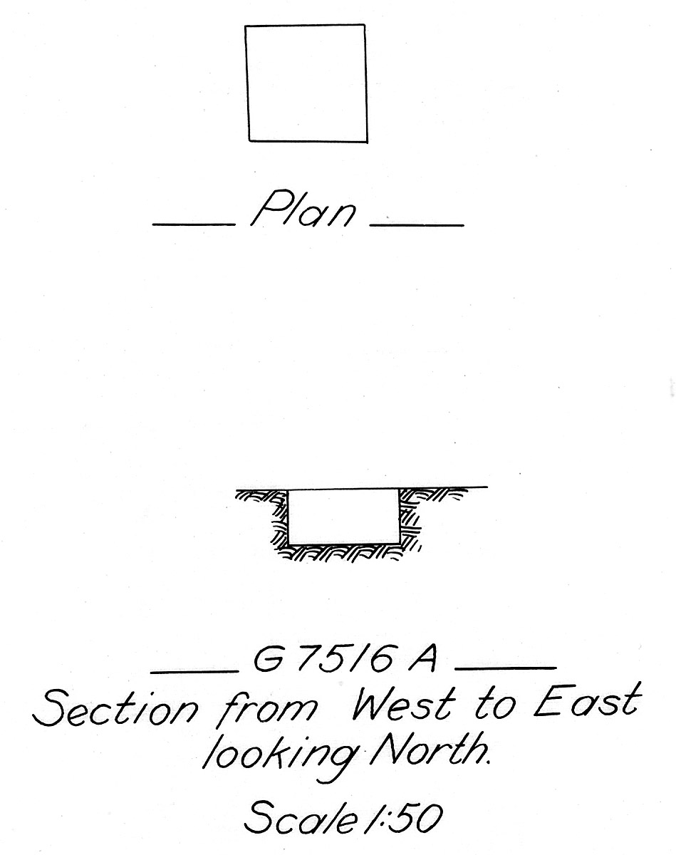 Maps and plans: G 7516, Shaft A