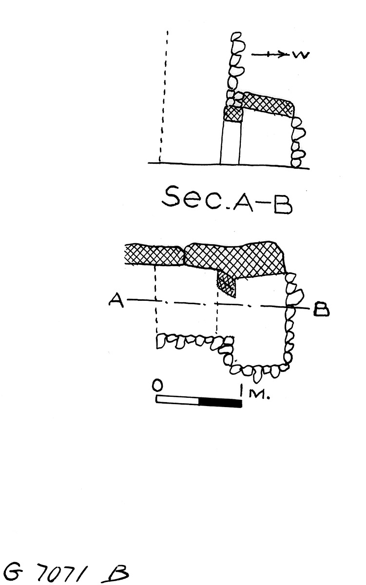 Maps and plans: G 7071, Shaft B