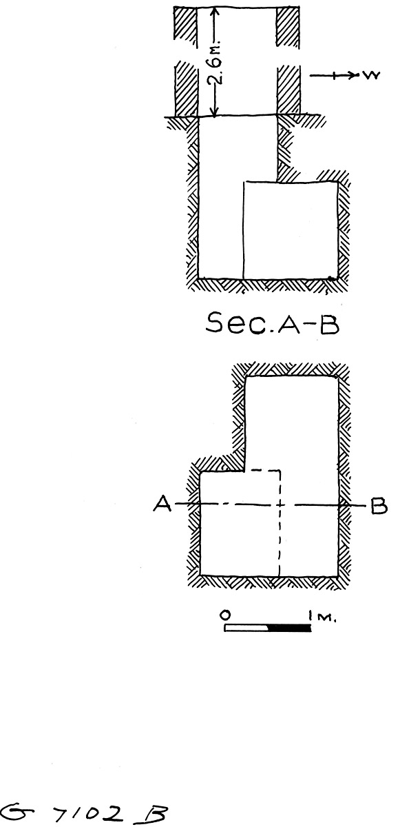 Maps and plans: G 7102, Shaft B