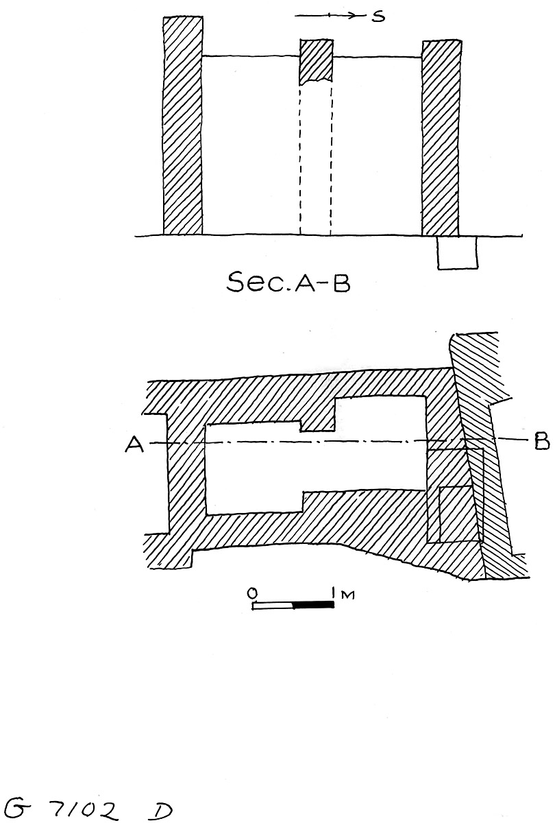 Maps and plans: G 7102, Shaft D