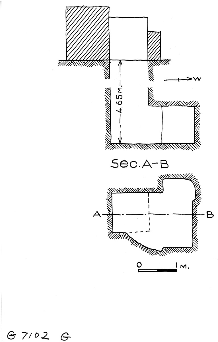 Maps and plans: G 7102, Shaft G