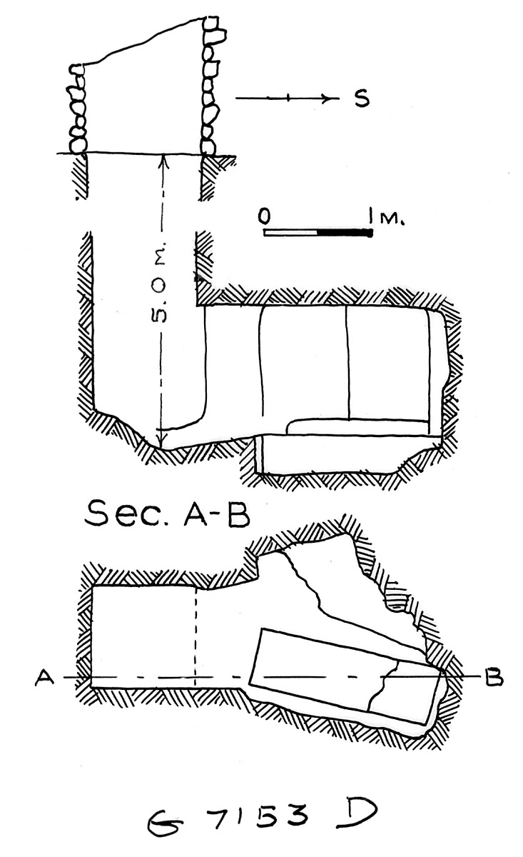 Maps and plans: G 7153, Shaft D