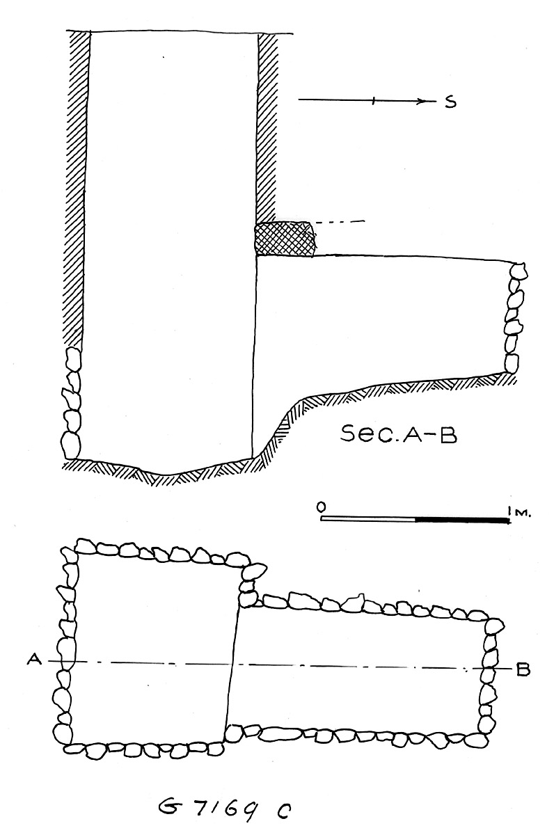 Maps and plans: G 7169, Shaft C