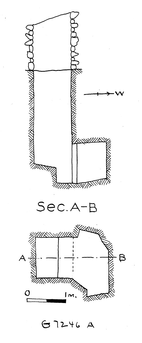 Maps and plans: G 7244+7246: G 7246, Shaft A