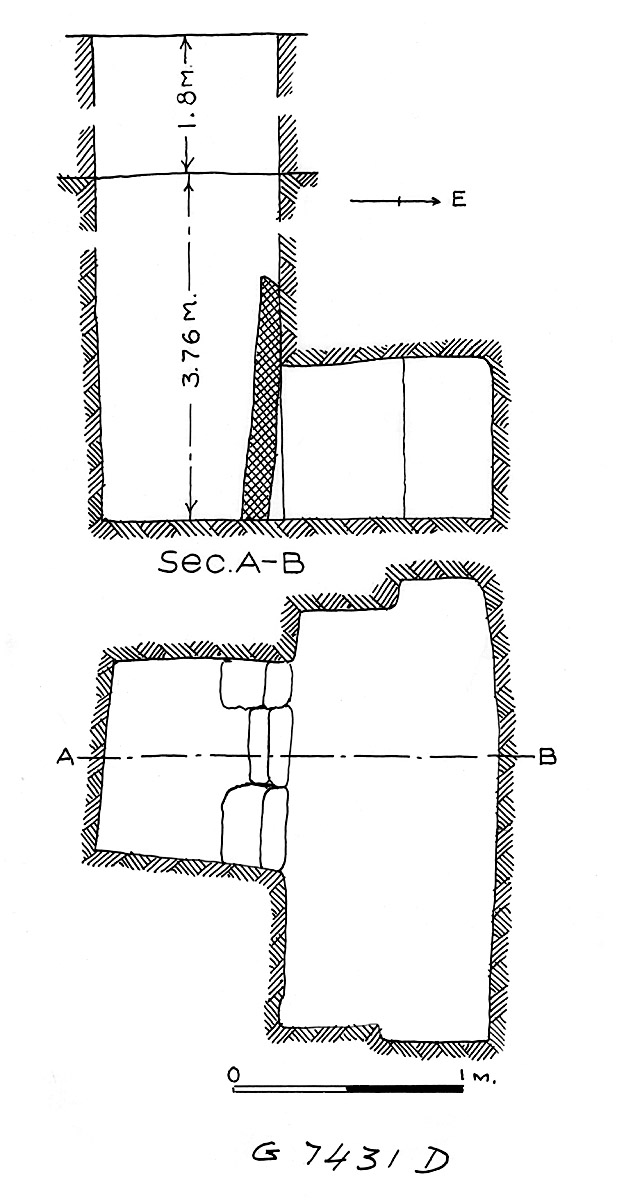 Maps and plans: G 7431, Shaft D
