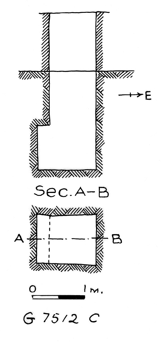 Maps and plans: G 7512, Shaft C