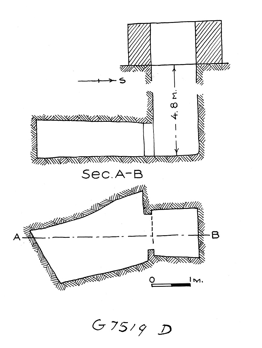 Maps and plans: G 7519, Shaft D