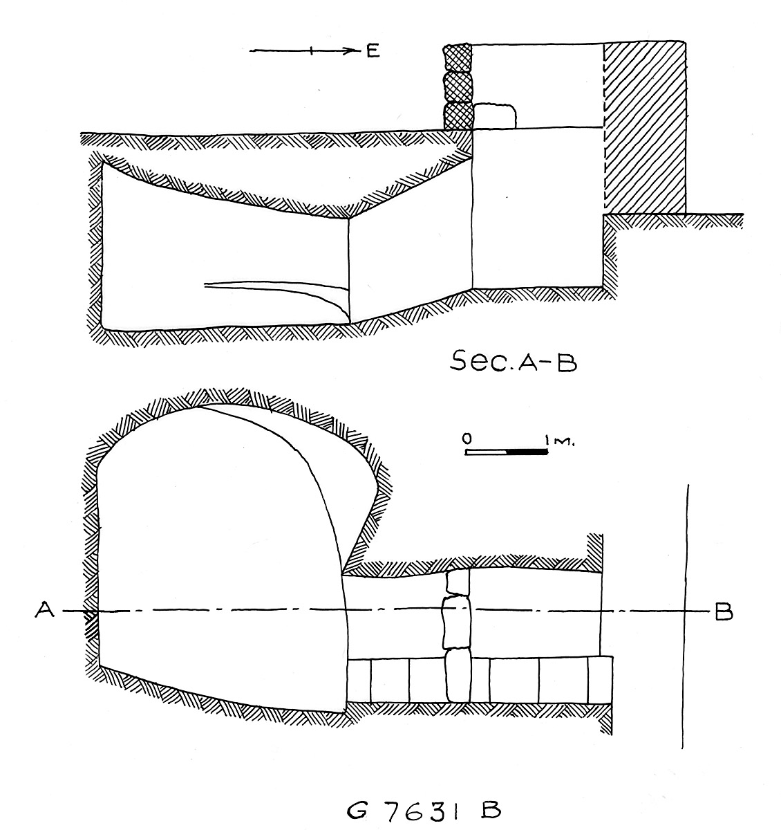 Maps and plans: G 7631, Shaft B
