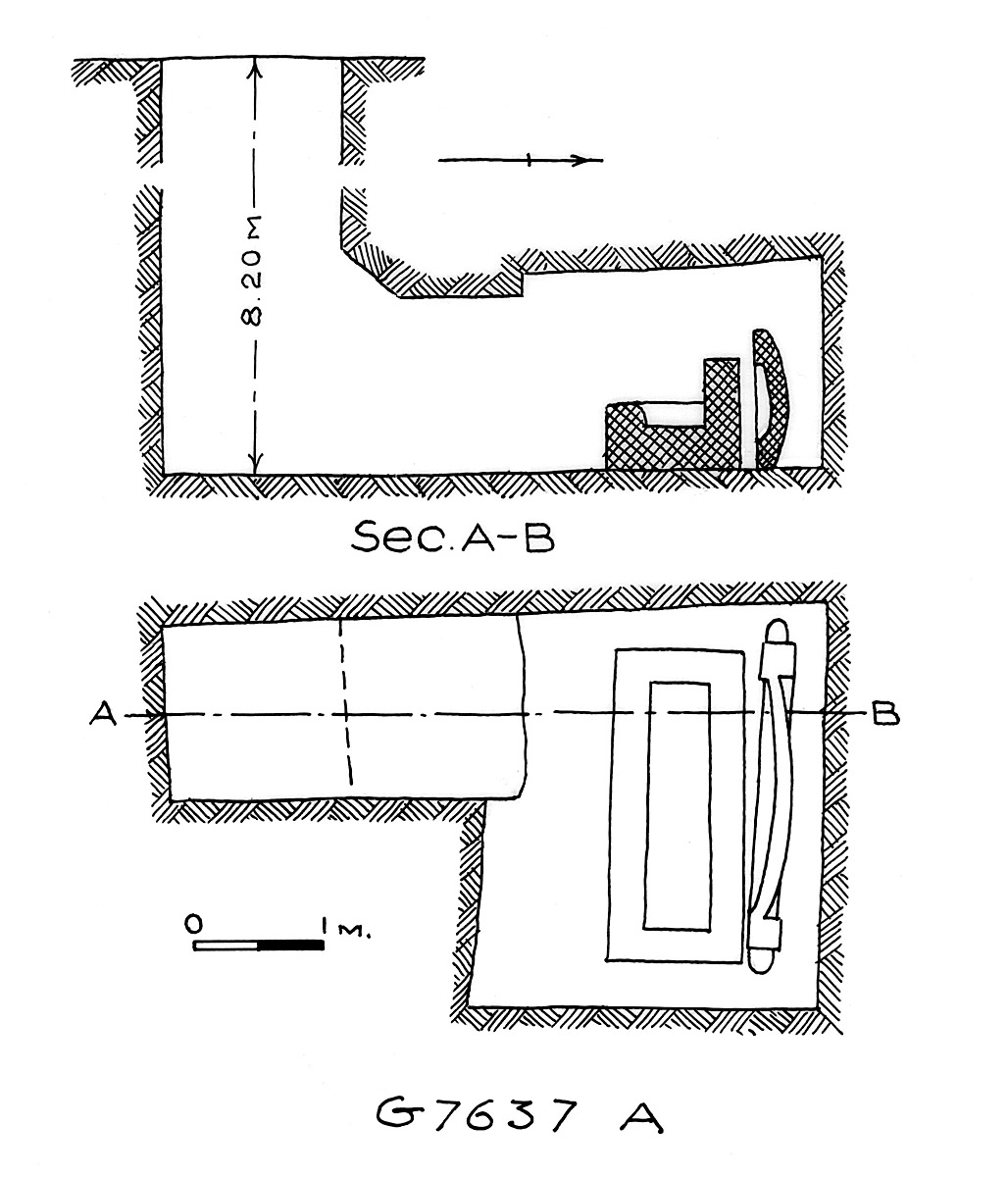 Maps and plans: G 7637, Shaft A