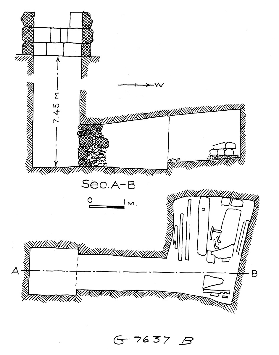 Maps and plans: G 7637, Shaft B