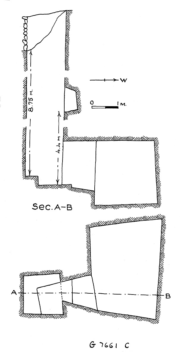 Maps and plans: G 7661, Shaft C