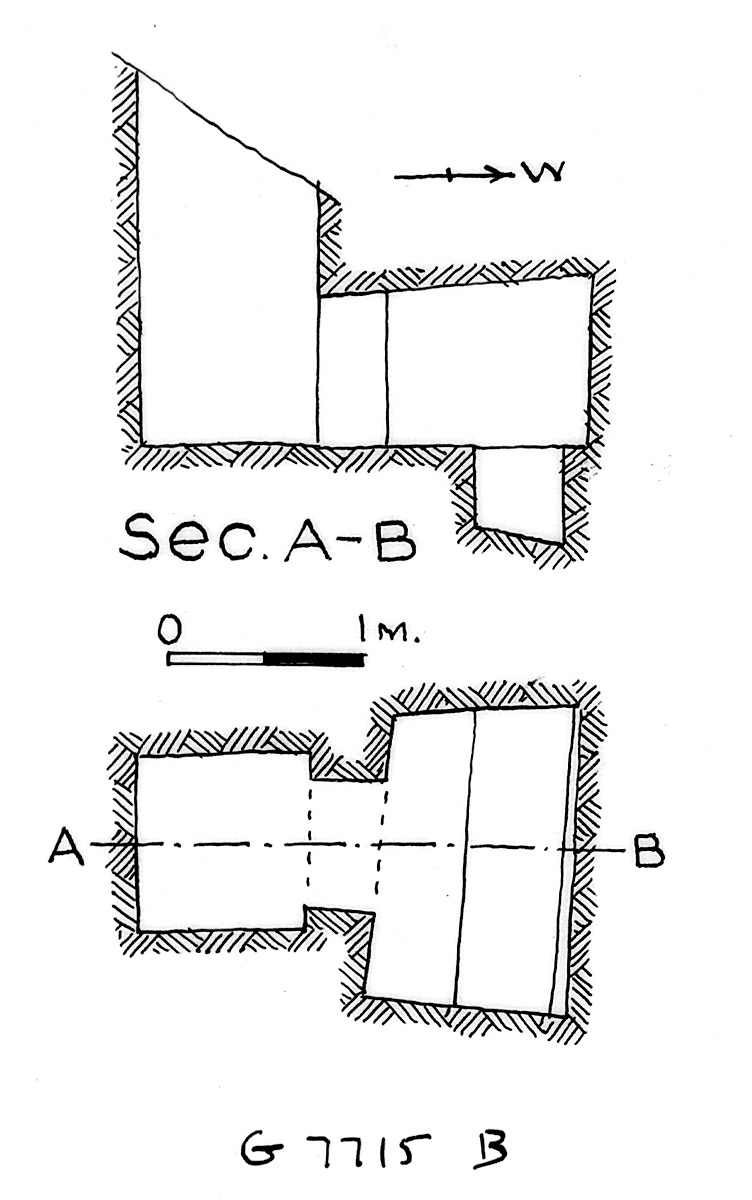 Maps and plans: G 7715, Shaft B