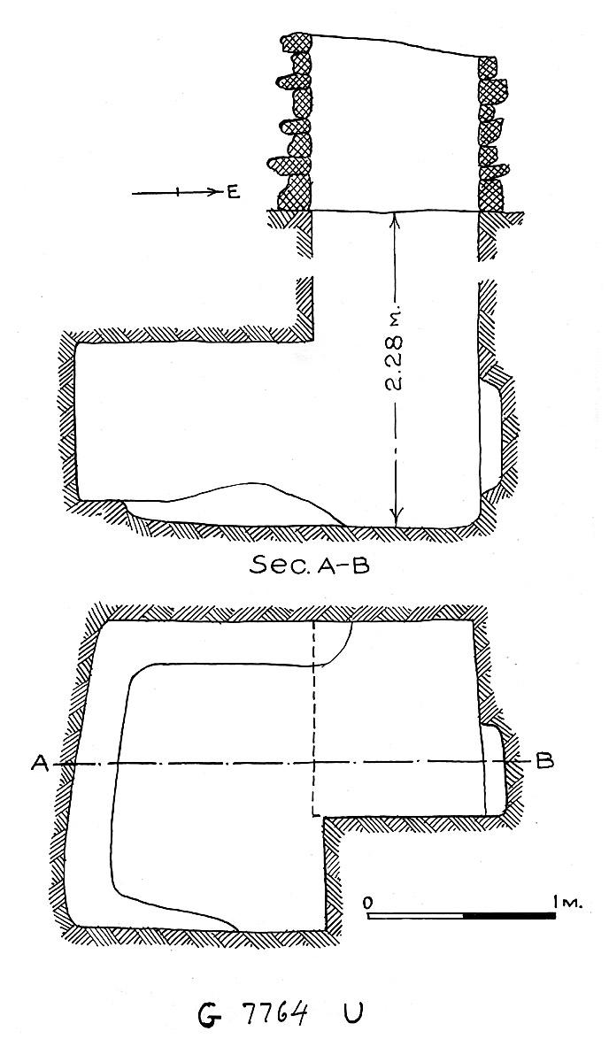 Maps and plans: G 7764, Shaft U