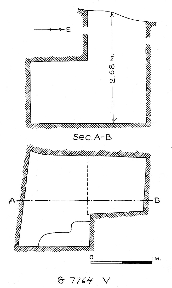 Maps and plans: G 7764, Shaft V