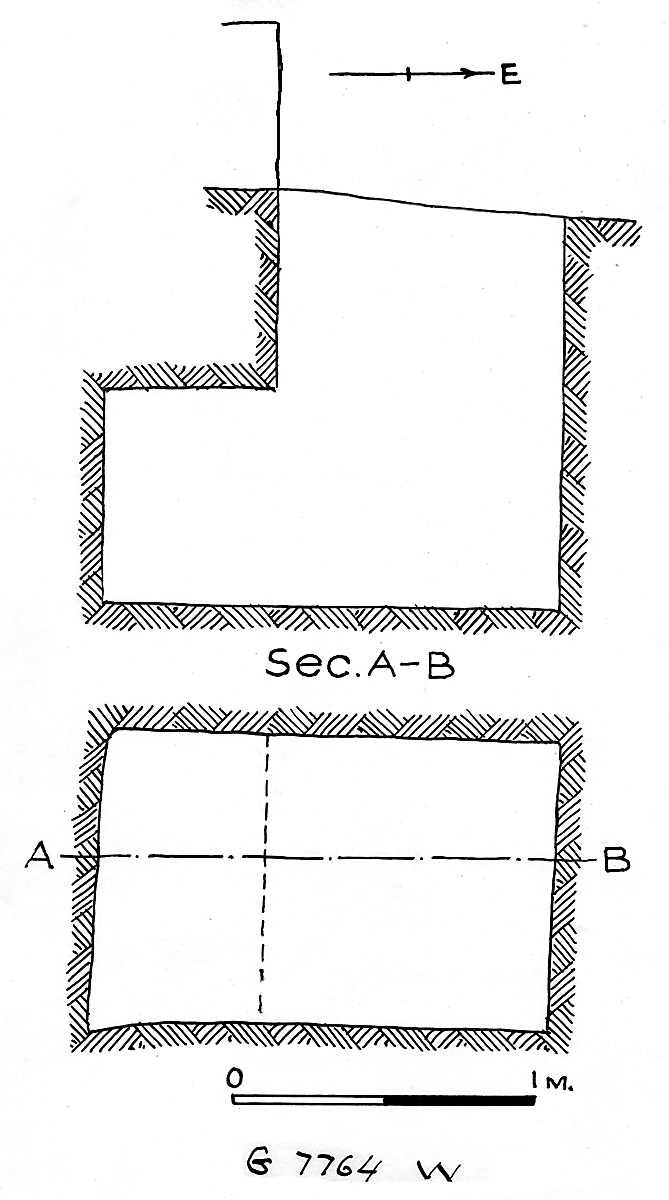 Maps and plans: G 7764, Shaft W