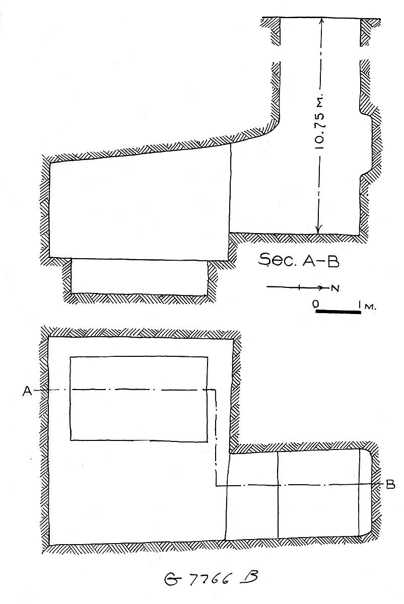 Maps and plans: G 7766, Shaft B