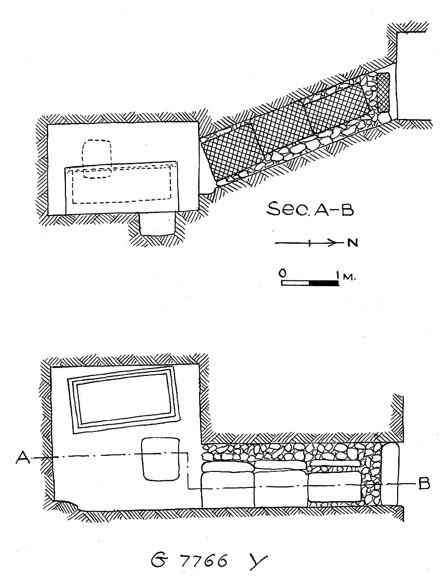 Maps and plans: G 7766, Shaft Y