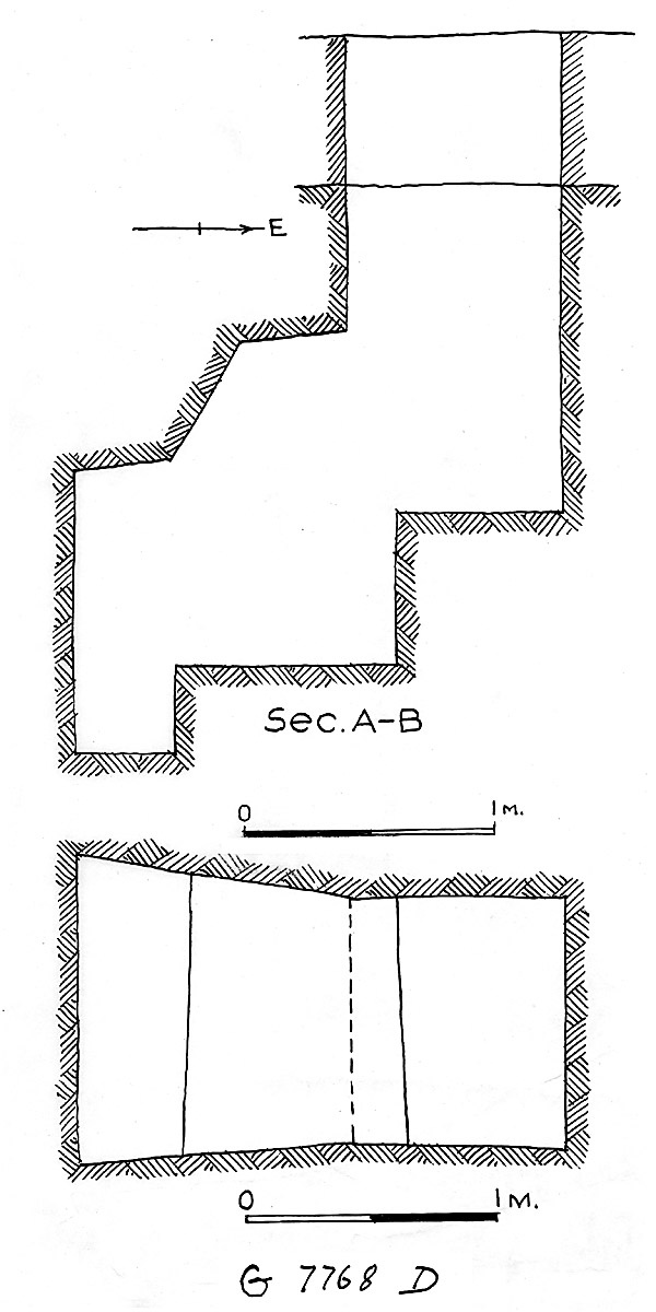 Maps and plans: G 7768, Shaft D