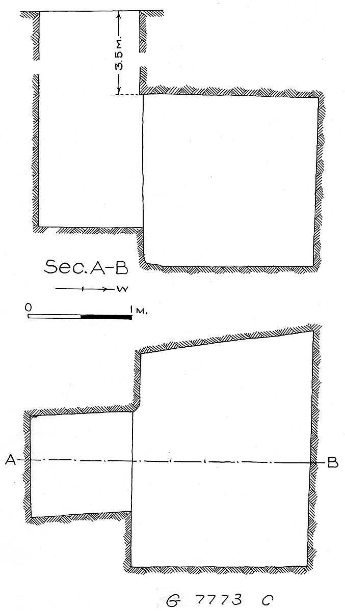 Maps and plans: G 7773, Shaft C