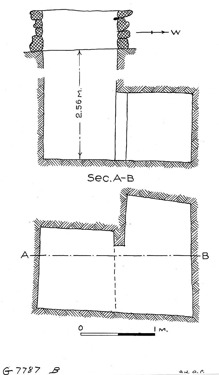 Maps and plans: G 7787b, Shaft B