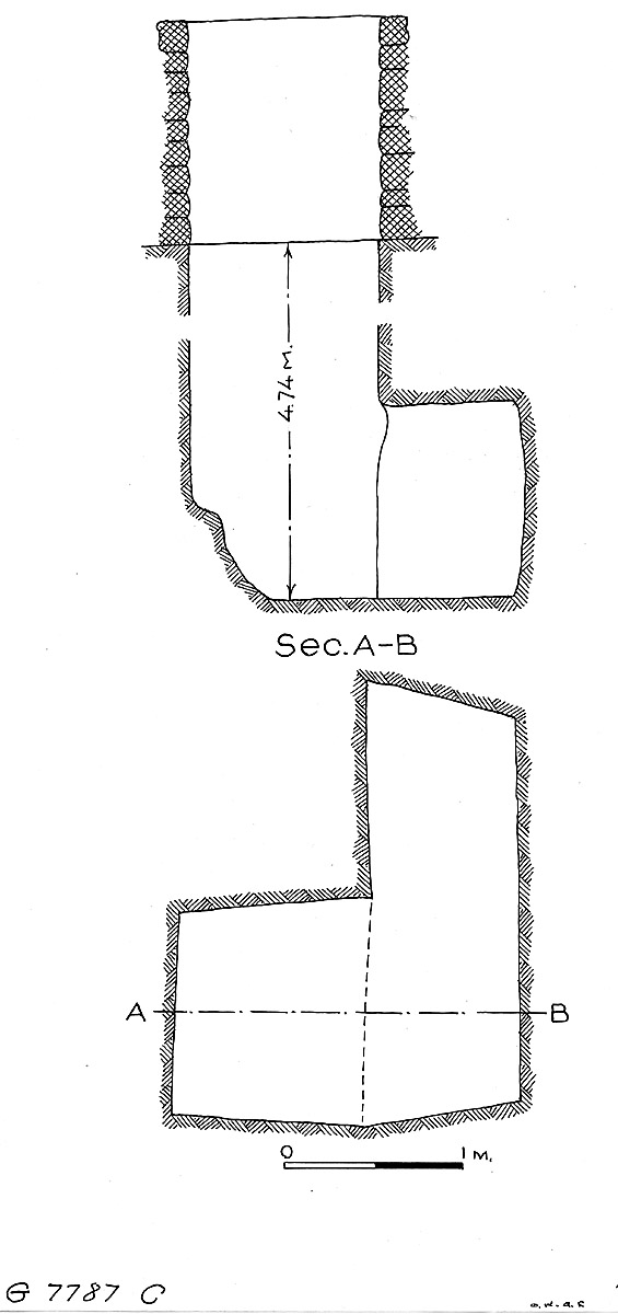 Maps and plans: G 7787, Shaft C