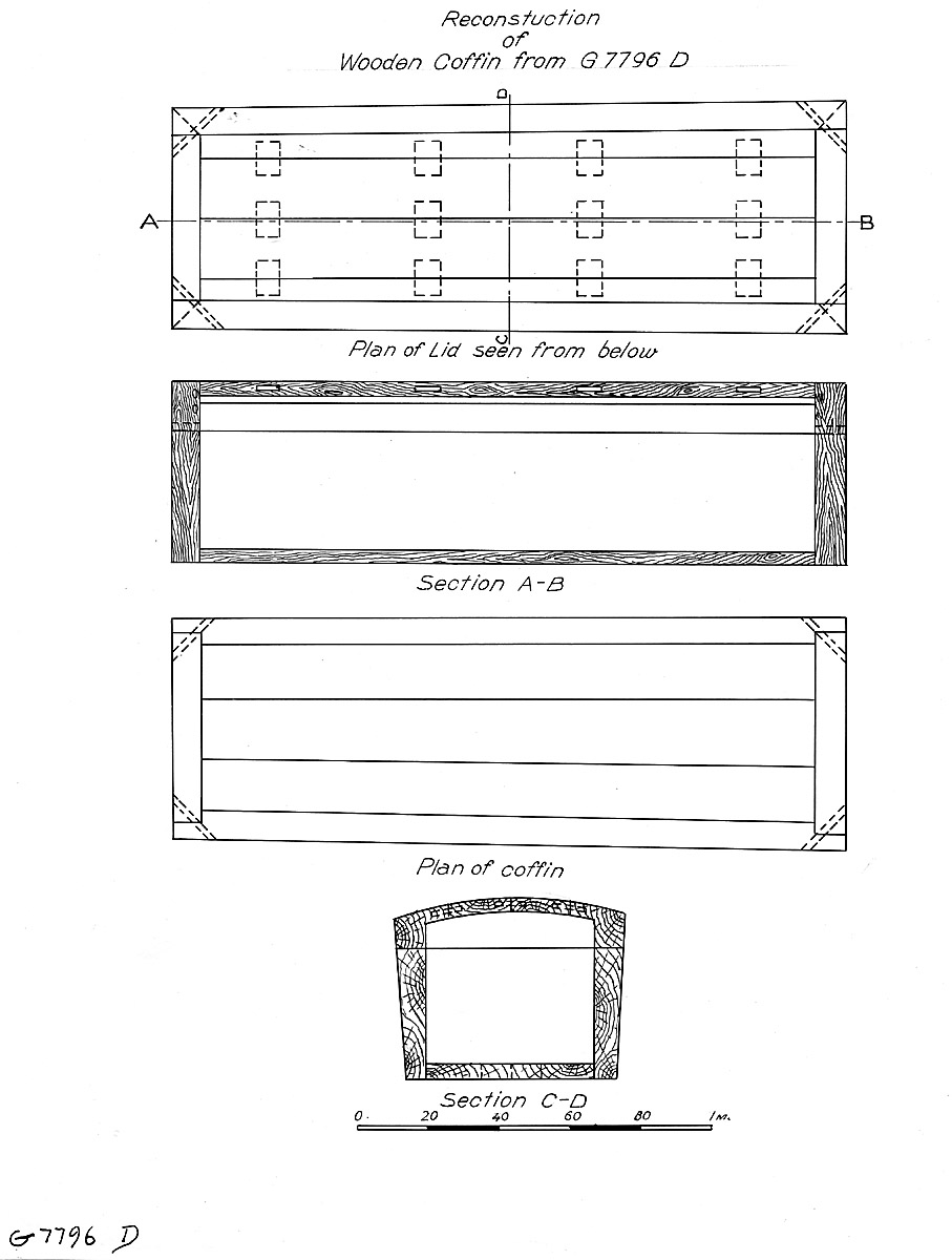 Drawings: G 7796, Shaft D, wood coffin