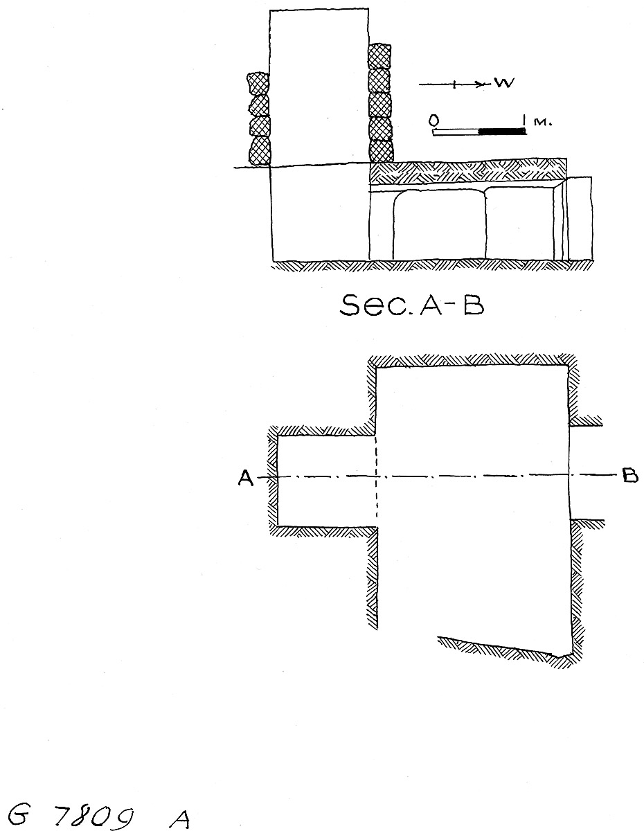 Maps and plans: G 7809, Shaft A