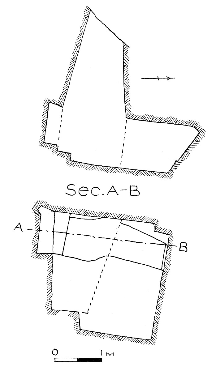 Maps and plans: G 7848, Shaft D