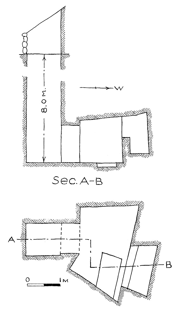 Maps and plans: G 7849, Shaft B