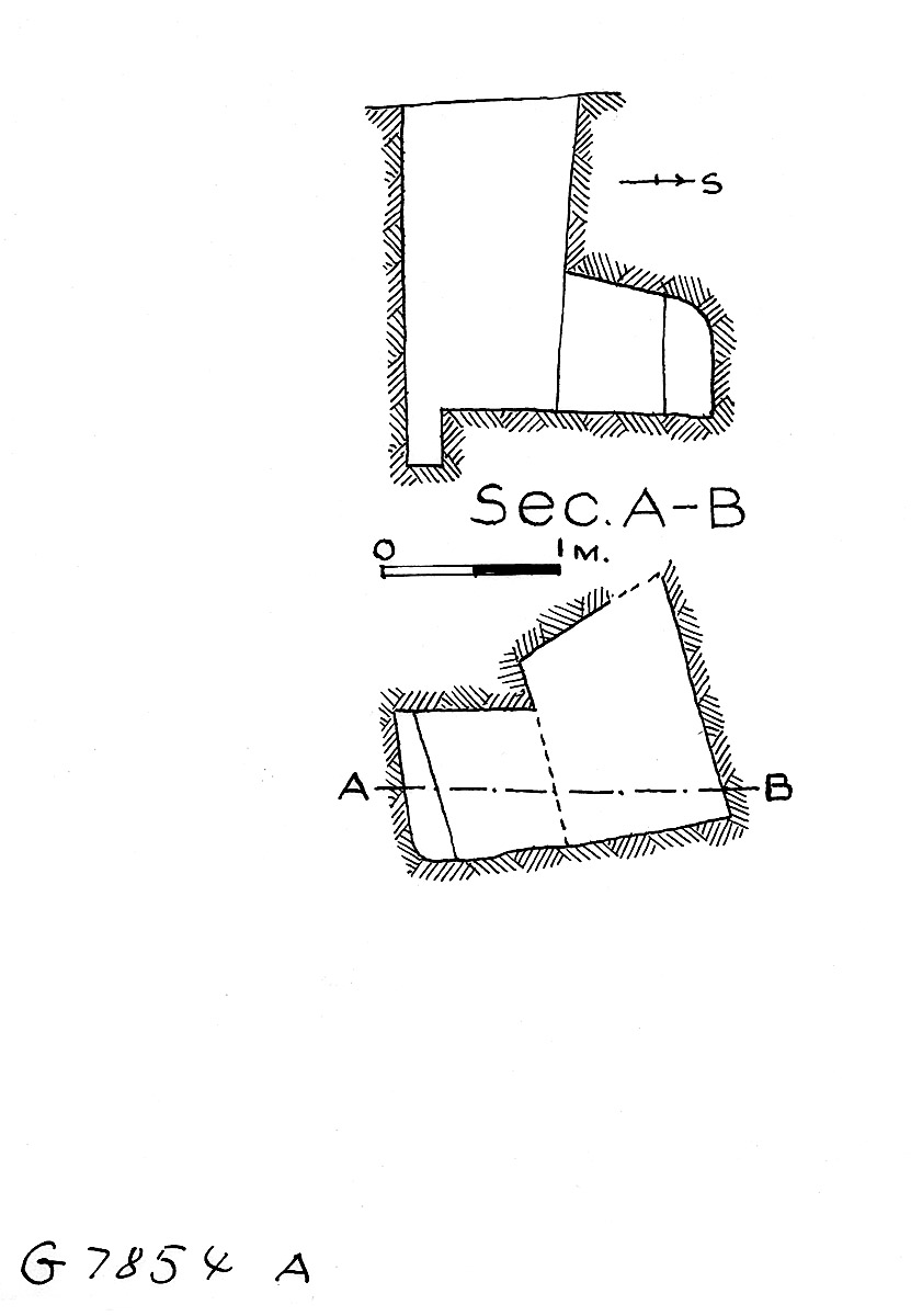 Maps and plans: G 7854, Shaft A