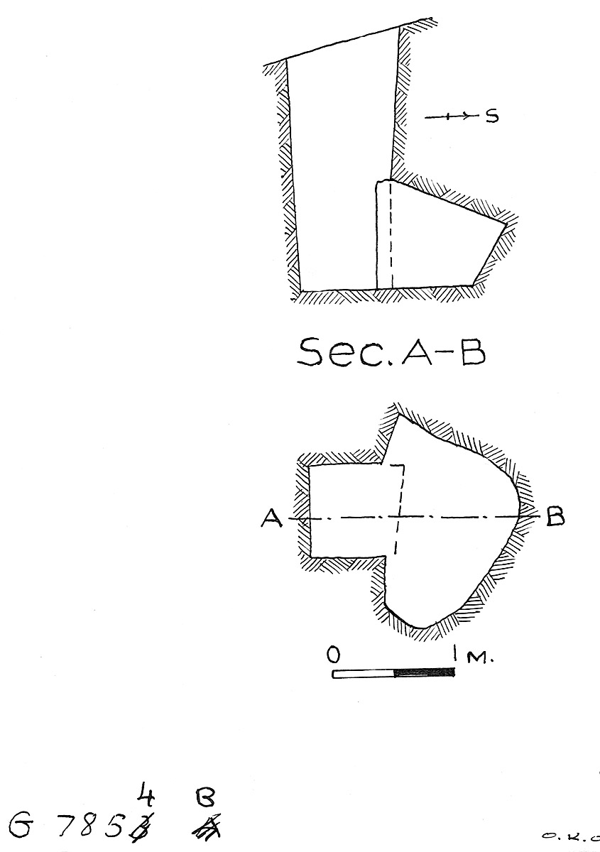 Maps and plans: G 7854, Shaft B
