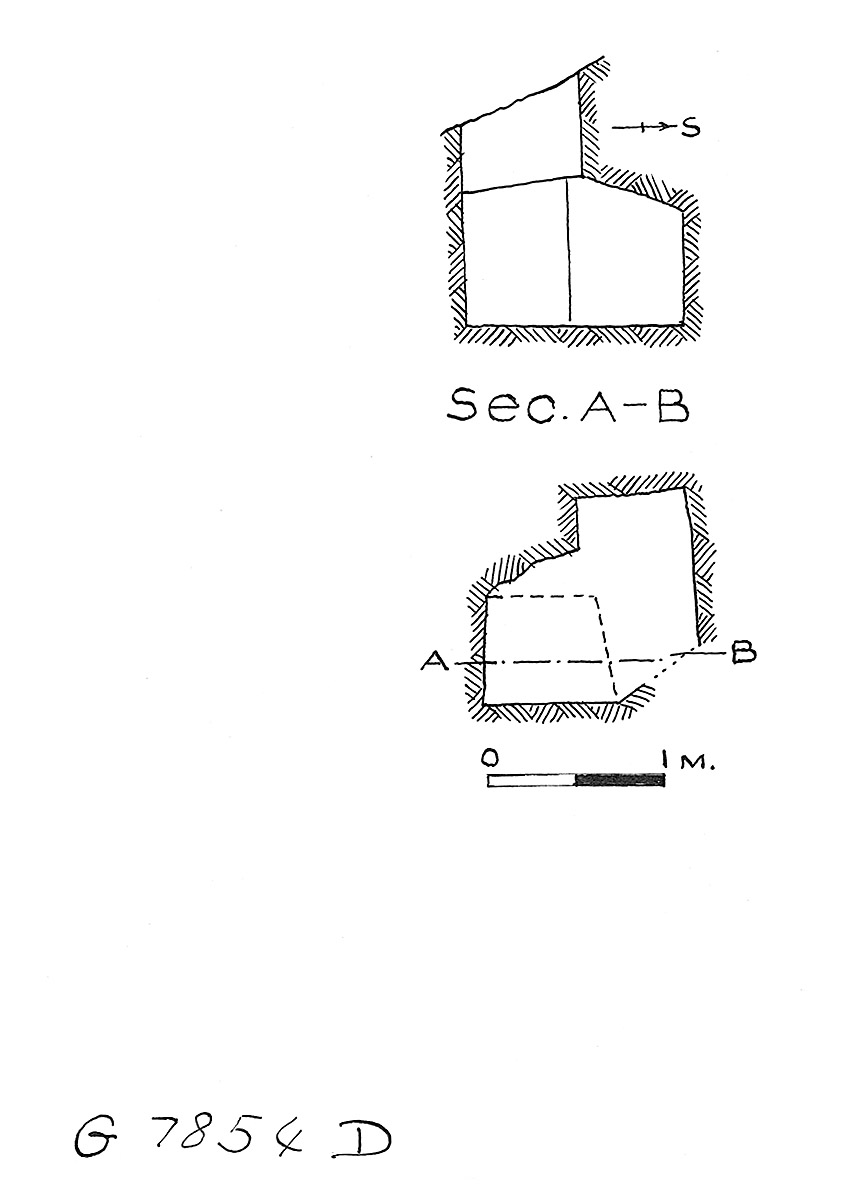 Maps and plans: G 7854, Shaft D